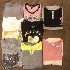 Lot of 8 short sleeve tees 💕 girls 10/12